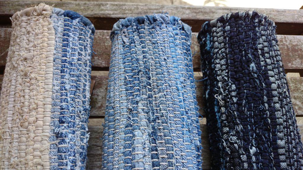デニム裂き織り3色